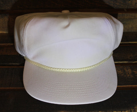 White Polyester Golf Cap