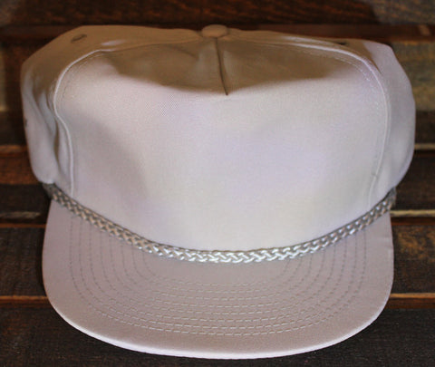Grey Polyester Golf Cap
