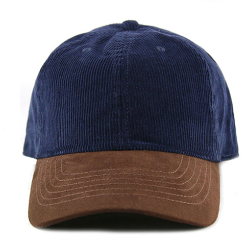 b7ab05b5f33da5 Navy Corduroy/ Suede 6-Panel Dad Hat