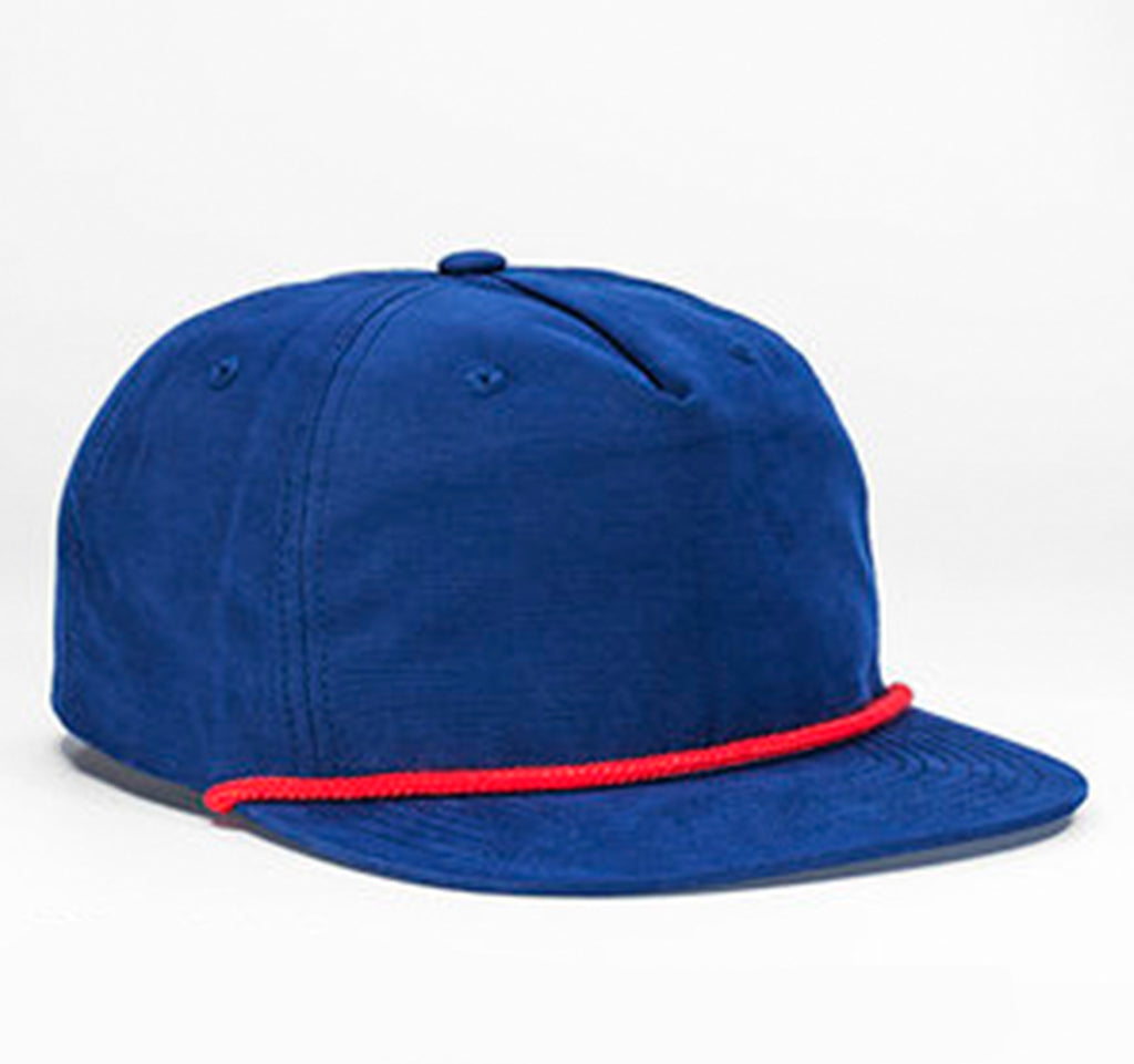Nylon Rope Snapback - Navy