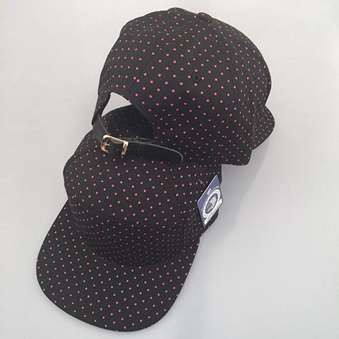Black/ Red Polka Dot 7-Panel