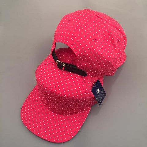 Red/ White Polka Dot 7-Panel