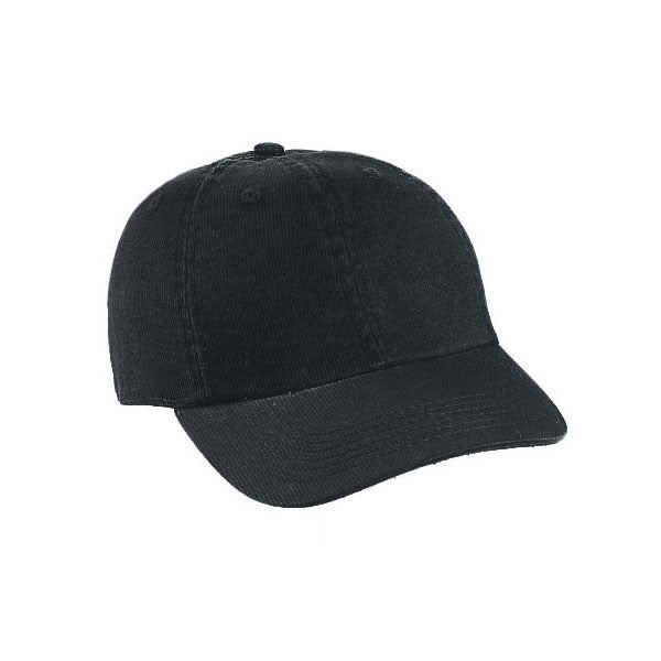 Washed Unstructured Dad Hat - Black
