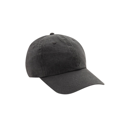 6 Panel Stone Washed Dad Hat - Charcoal