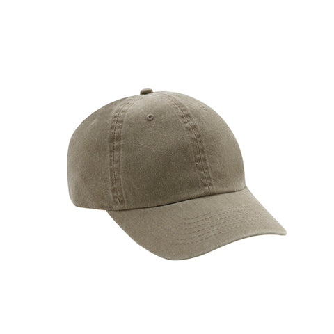 6 Panel Stone Washed Dad Hat - Khaki
