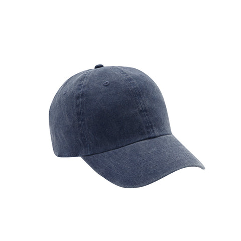 6 Panel Stone Washed Dad Hat - Navy