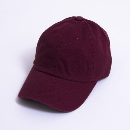 Maroon Unstructured 6-Panel
