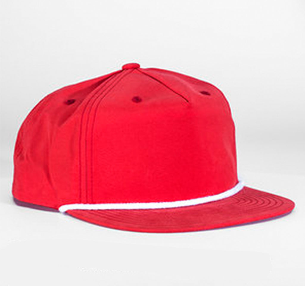 Nylon Rope Snapback - Red
