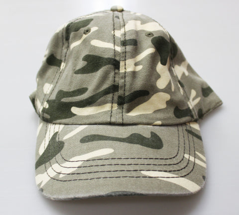 TAN CAMO UNSTRUCTURED GAP STYLE CAP