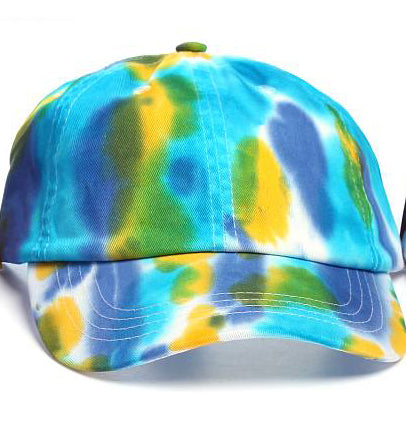 Art Dye Dad Hats (Blue Yellow Purple)