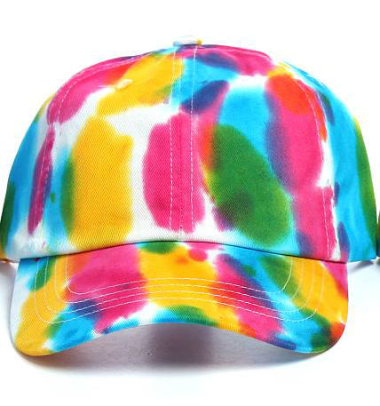 Art Dye Dad Hats (Yellow Pink Green)