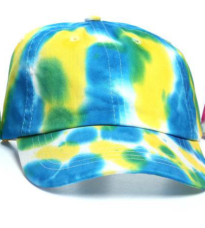 Art Dye Dad Hats (Blue Yellow Green)