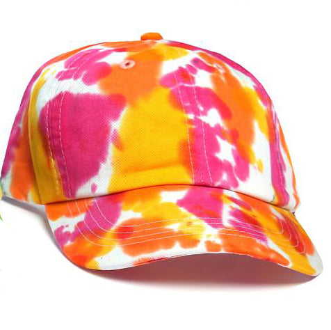 Art Dye Dad Hats (Red Yellow Orange)