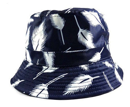 Navy leaves Bucket Hat