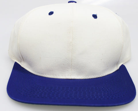 VINTAGE SNAPBACK CREAM/ ROYAL BLUE (SALE)