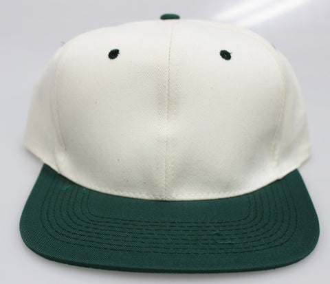 VINTAGE SNAPBACK CREAM/ KELLY GREEN (SALE)