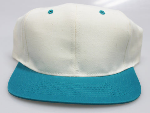 VINTAGE SNAPBACK CREAM/ TEAL (SALE)
