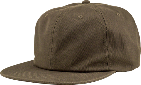 6-Panel Unstructured Flat Square Bill - Olive