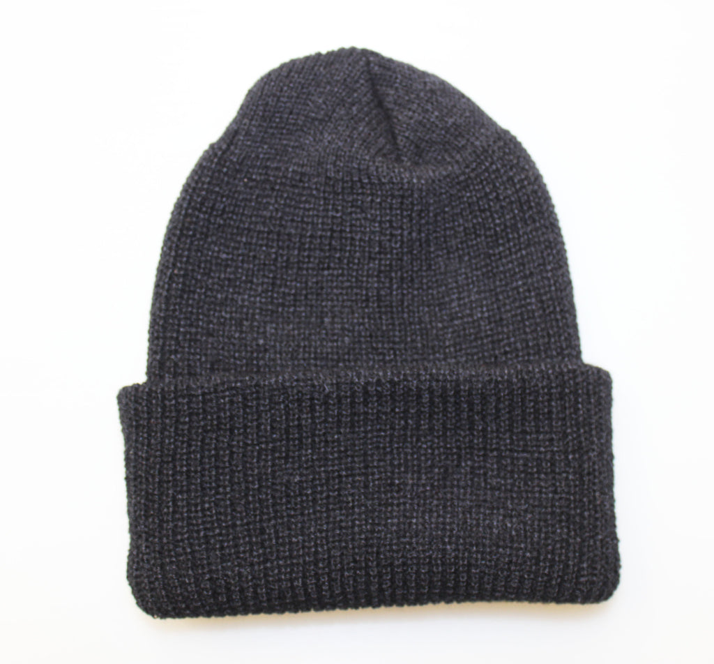 WATCH CAP BEANIE - BLACK (USA MADE) (SALE)