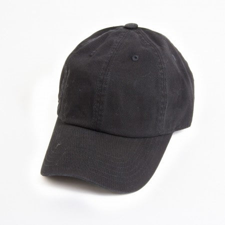 Black  Unstructured 6-Panel