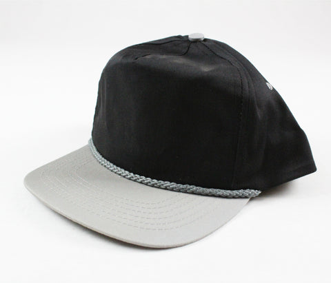 Braid Rope Snapback - Black/ Grey