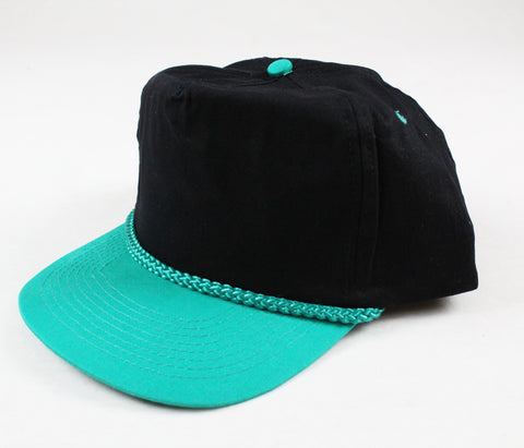 Braid Rope Snapback - Black/ Teal
