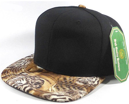 Black/ Tiger Snapback Hat