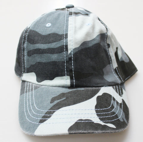 BLUE CAMO UNSTRUCTURED GAP STYLE CAP