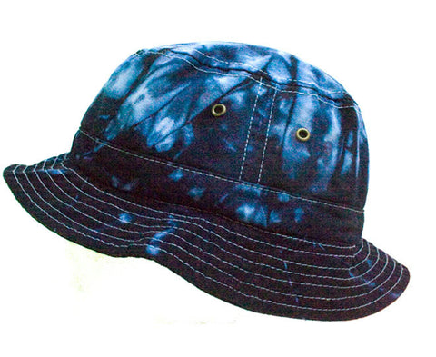 BLUE OCEAN DYE BUCKET HAT