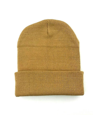 Light Brown Cuffed Beanie