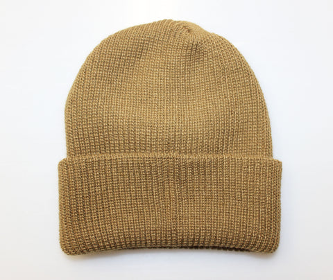 WATCH CAP BEANIE - BROWN (USA MADE)
