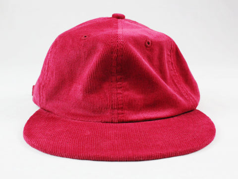 Cranberry Corduroy 6-Panel Flatbill Hat