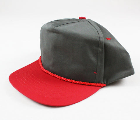 Braid Rope Snapback - Grey/ Red