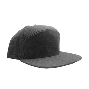 6 Panel Hybrid Heathered Wool Snapback