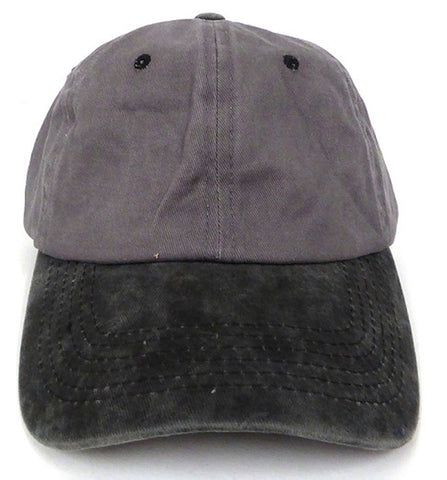 PIGMENT DYED DAD CAP - Grey/ Black
