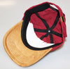 Premium Burgundy Cord/ Suede Hat (Unstructured Hat)