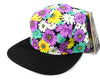 Purple Daisy/ Black 5 Panel