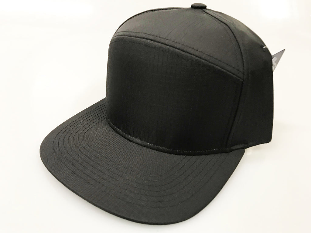 Ripstock Nylon Black 6-Panel