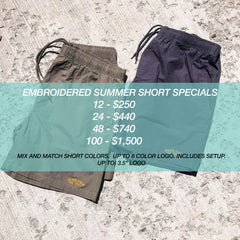 EMBROIDERED SUMMER SHORT PACKAGE DEALS