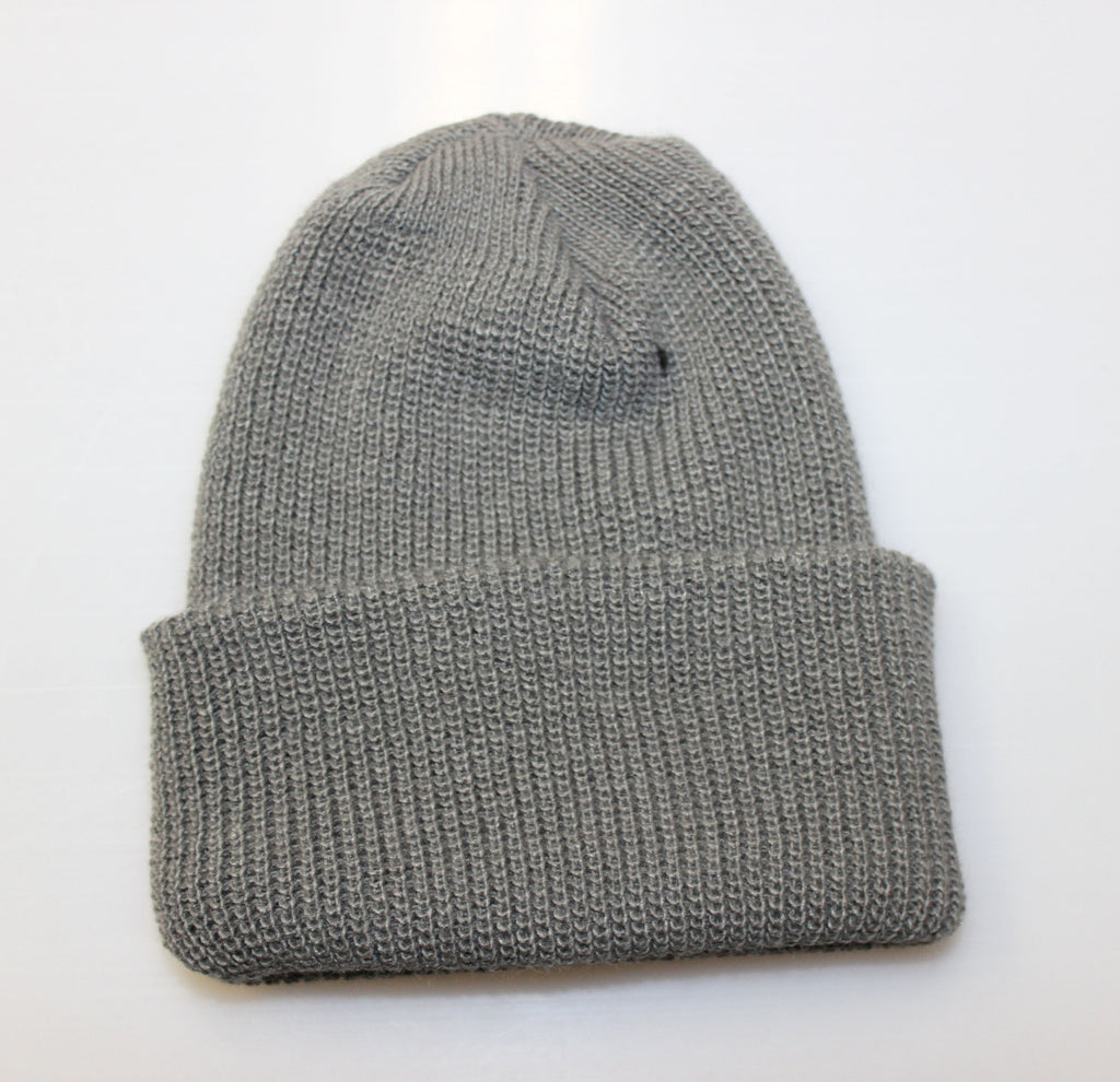 WATCH CAP BEANIE - GREY (USA MADE)