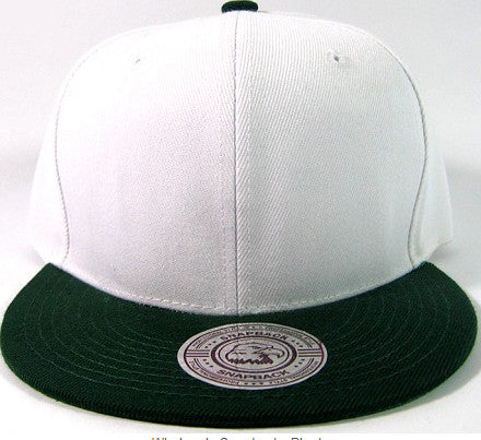 White/ Dark Green Snapback