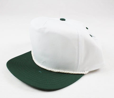 Braid Rope Snapback - White / Green