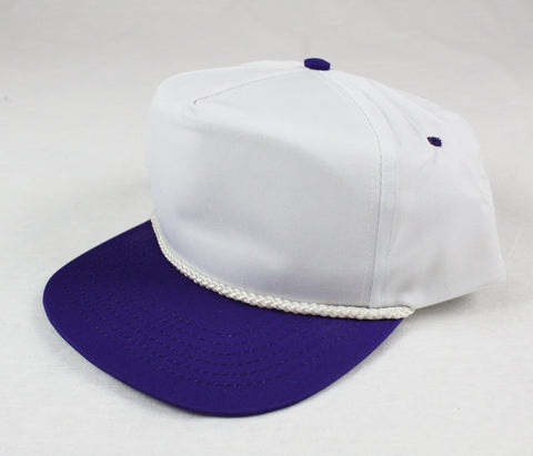 Braid Rope Snapback - White/ Purple
