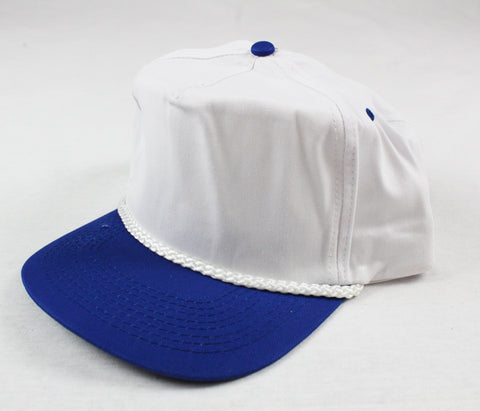 Braid Rope Snapback - White / Royal