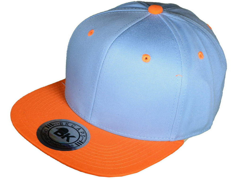 69f7d20e5145f6 BK Snapback Sky Blue/ Orange - Bulk-Caps Wholesale Headwear
