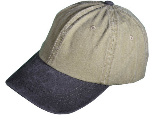 Polo Style Unstructured Cap Khaki/ Black