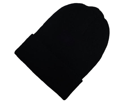 "Black Acrylic Knit Beanies 10"" (SALE)"