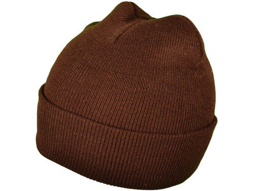 Brown Cuff Winter Beanie