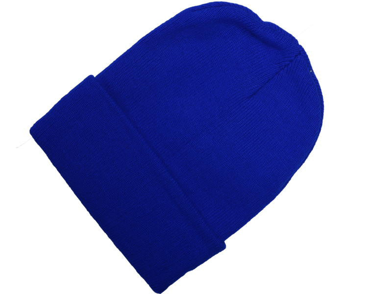 Royal Blue Cuff Beanie 10""