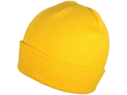 Yellow Cuff Winter Beanie